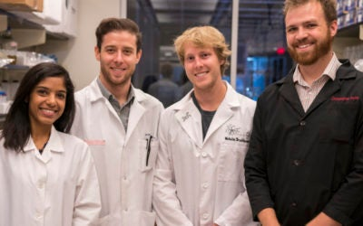 Graduate students lab skills help to earn funding for cutting-edge biomedical research